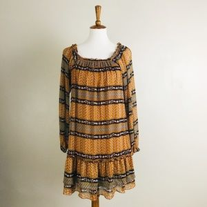 American Rag Boho Dress Mini On Or Off Shoulder L